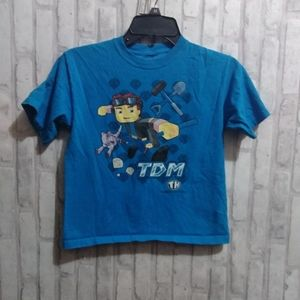 Tube Heroes blue t-shirt character on front